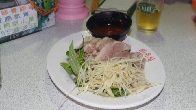 台北の穴場夜市グルメ:鴨肉