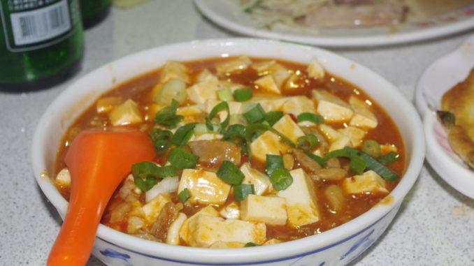 台北の穴場夜市グルメ:麻婆豆腐