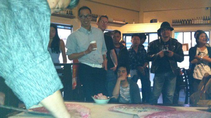 インバウンド日本文化PRイベント・寿司教室 at Izakaya Roku 魚の捌き