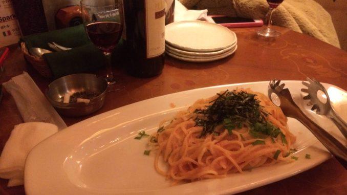 新宿のおすすめグルメ:Pizza k(ピザ ケイ) たらこスパ