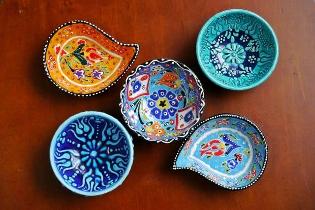 トルコ陶器: 皿、タイル