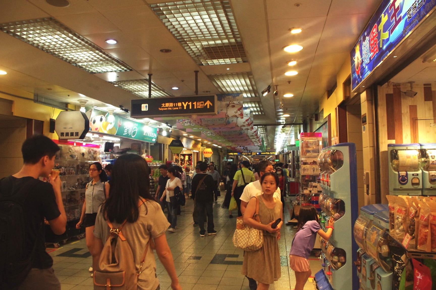 台北地下街・中山地下街