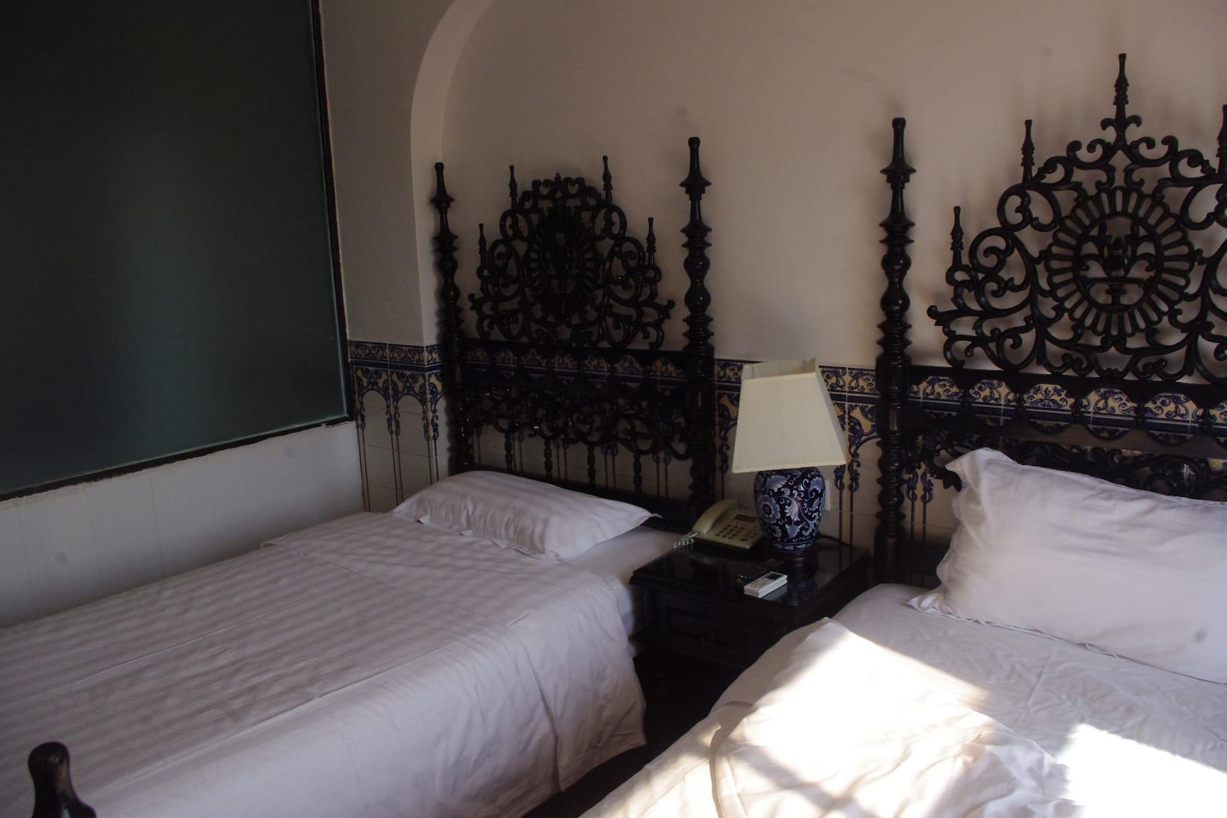 マカオのホテル・ポウサダ デ コロアネの寝室