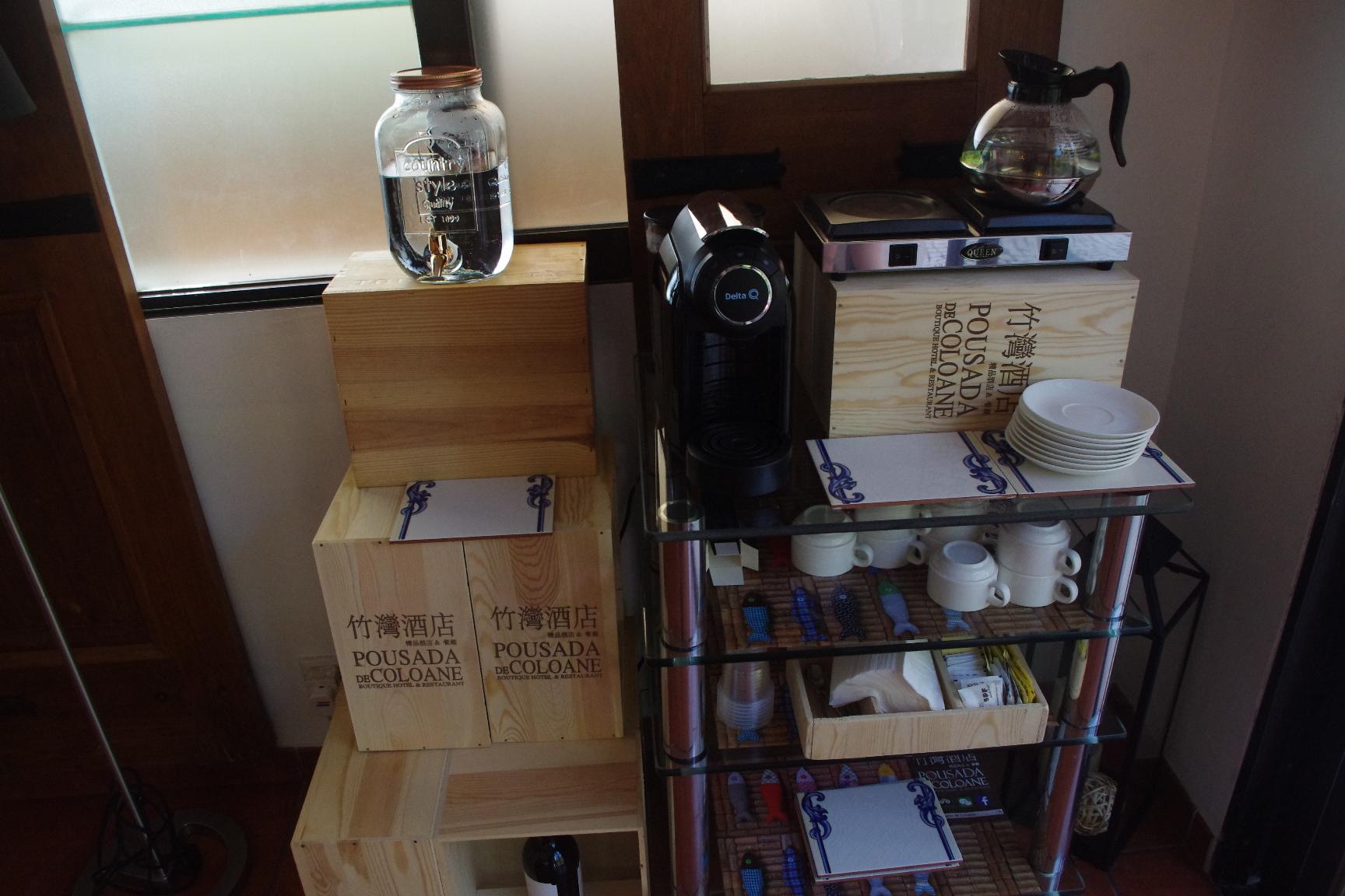 マカオのホテル(ポウサダ デ コロアネ)の飲料水・湯沸かし器など