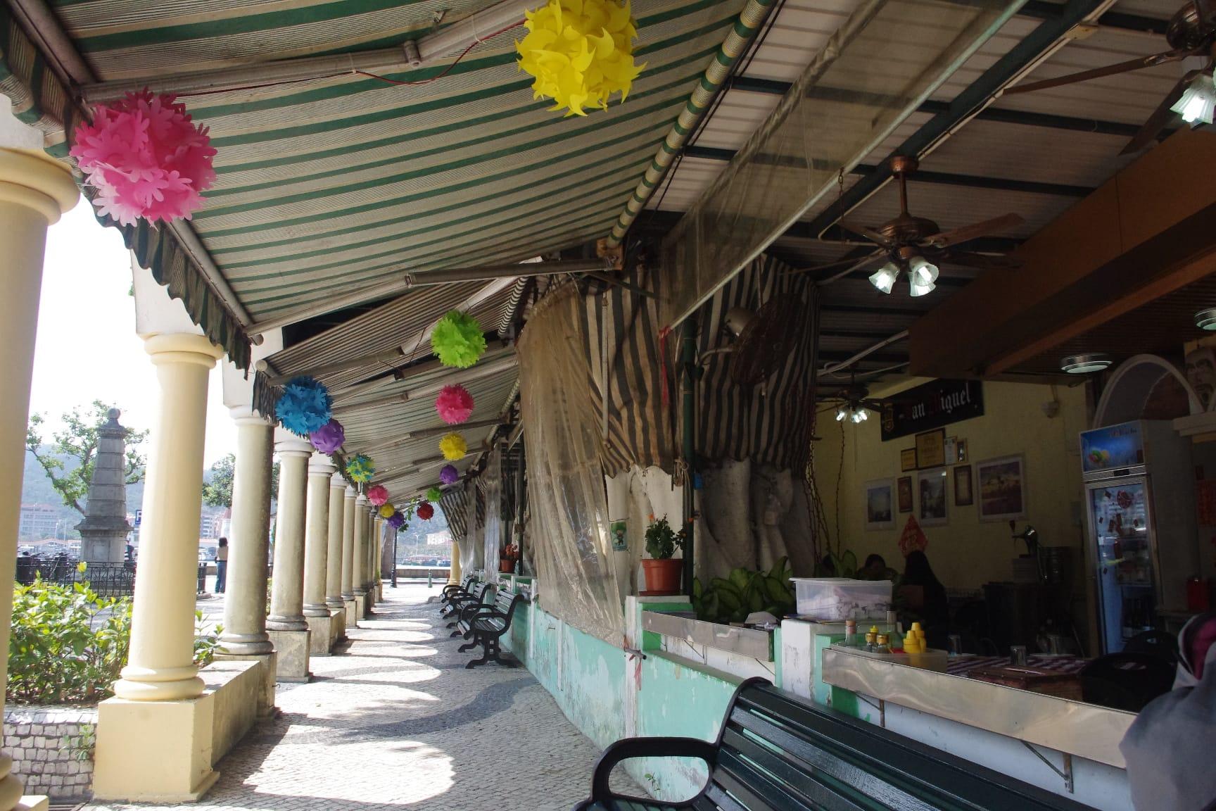 マカオ・コロアンビレッジのカフェ