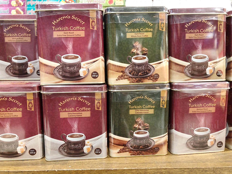 イスタンブール・アタテュルク国際空港・トルココーヒーのお土産