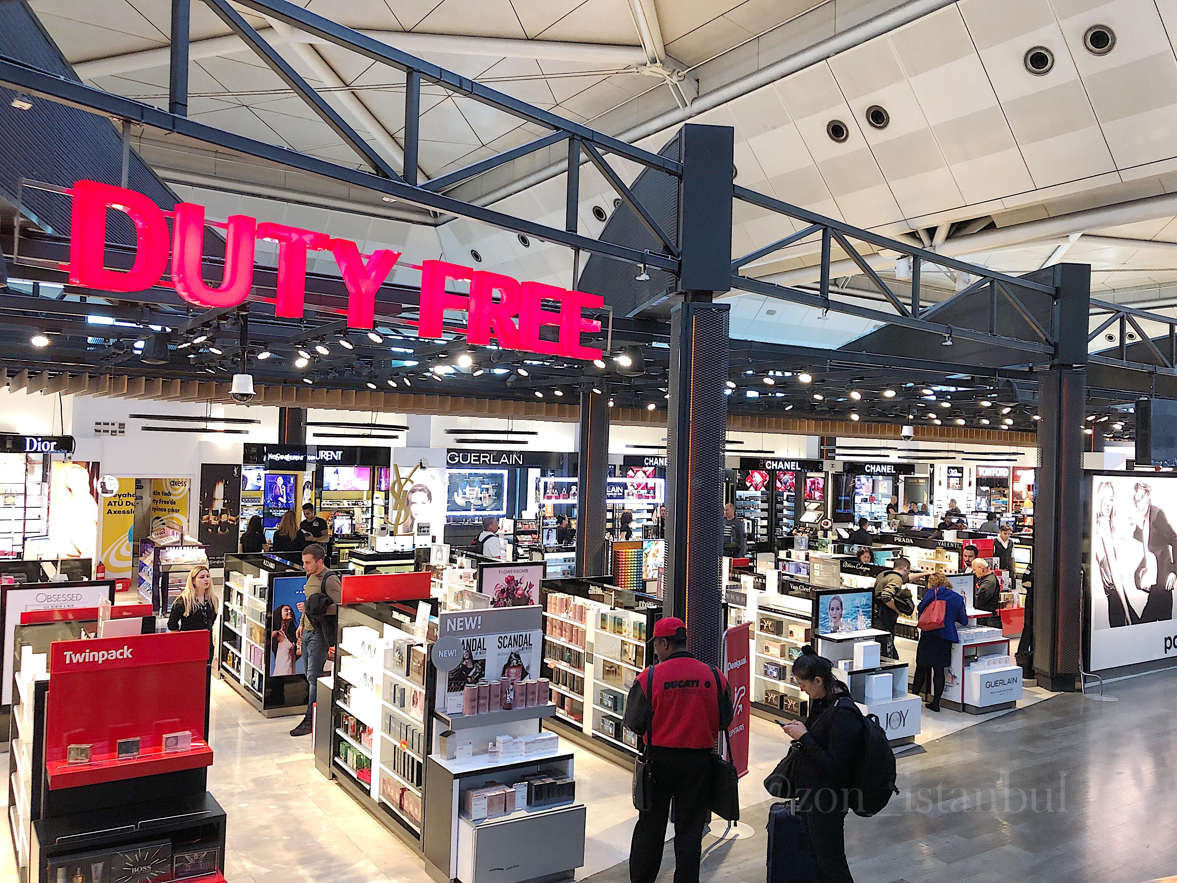 イスタンブール・アタテュルク国際空港・免税店のブランド商品・化粧品など