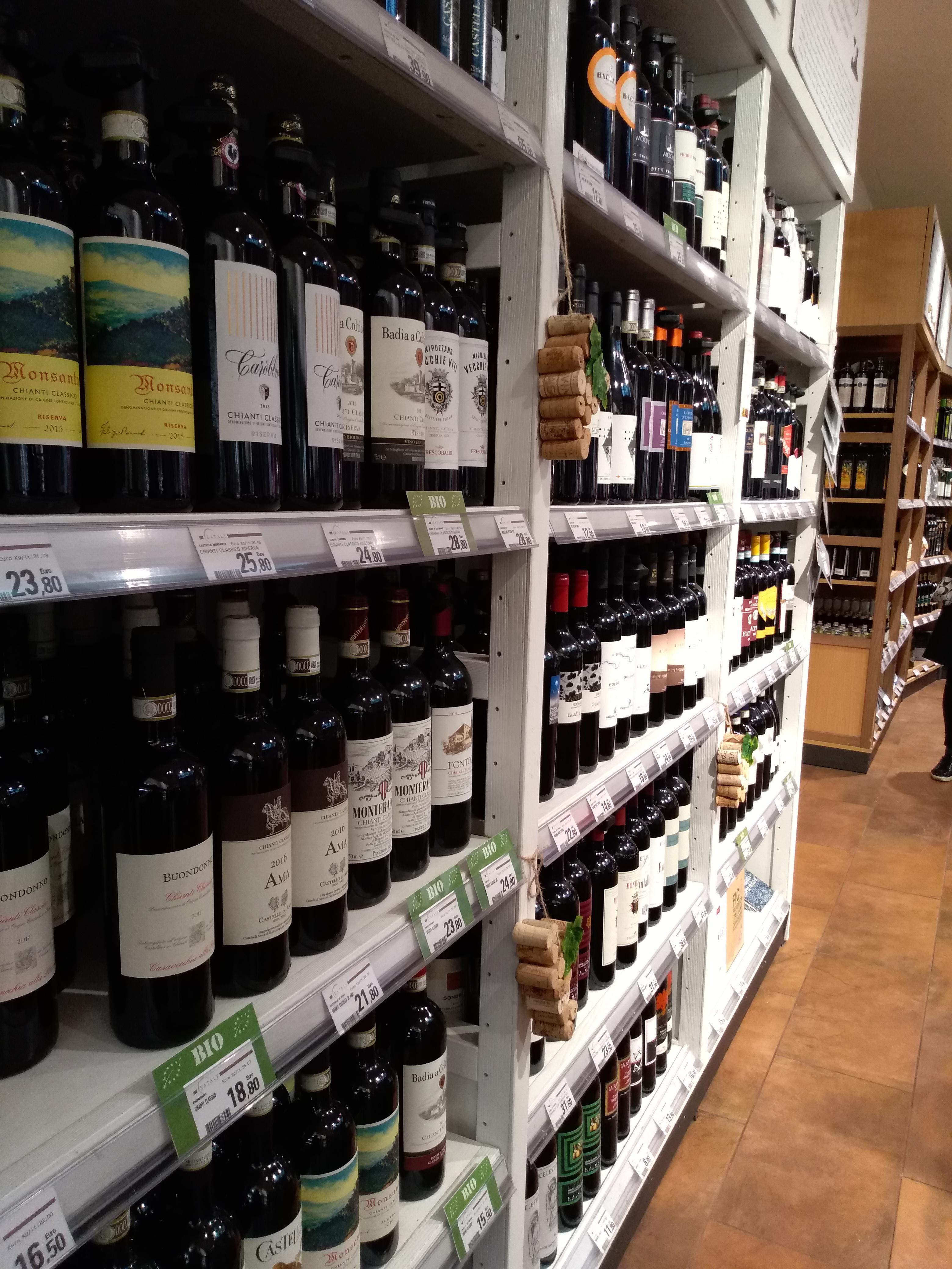 ワインコーナーのお土産:EATALY(イータリー)