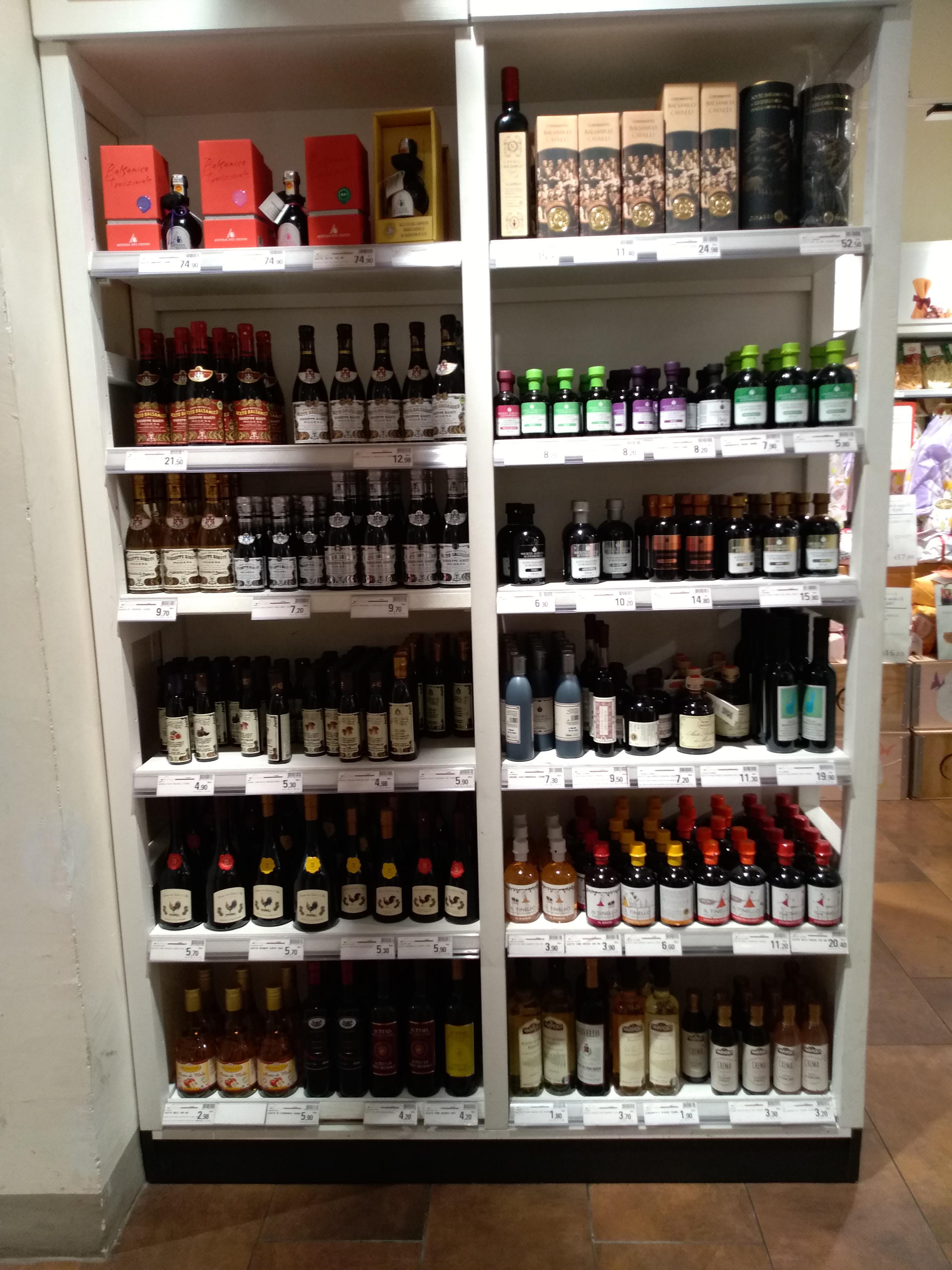 イタリア各地のバルサミコ酢のお土産:EATALY(イータリー)
