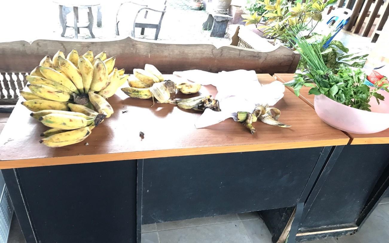タイ・チェンマイの料理教室/クッキング体験:料理教室中に食べられるバナナ