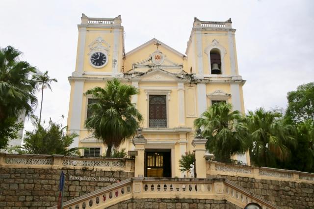マカオの世界遺産・聖ローレンス教会(外観)