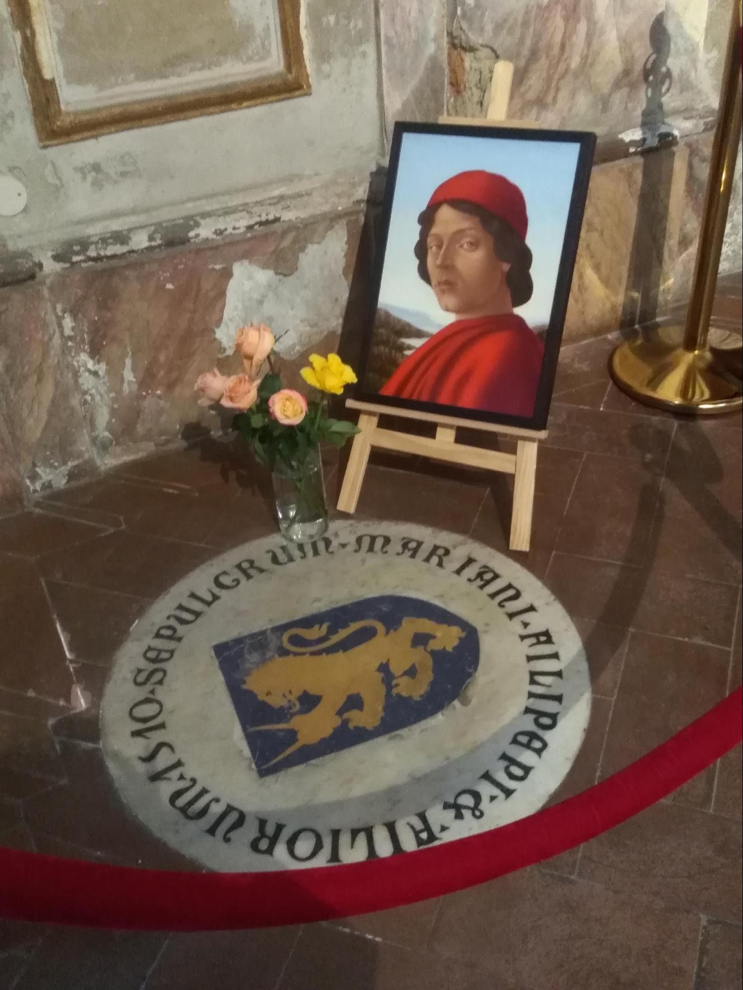 フィレンツェの教会・芸術:ボッティチェッリの墓