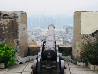 マカオの世界遺産・モンテの砦・大砲台