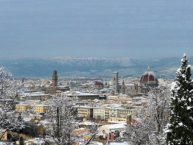 フィレンツェの雨季と降水/降雪量