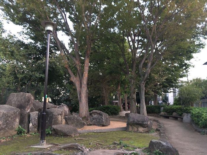 井荻公園/岩場