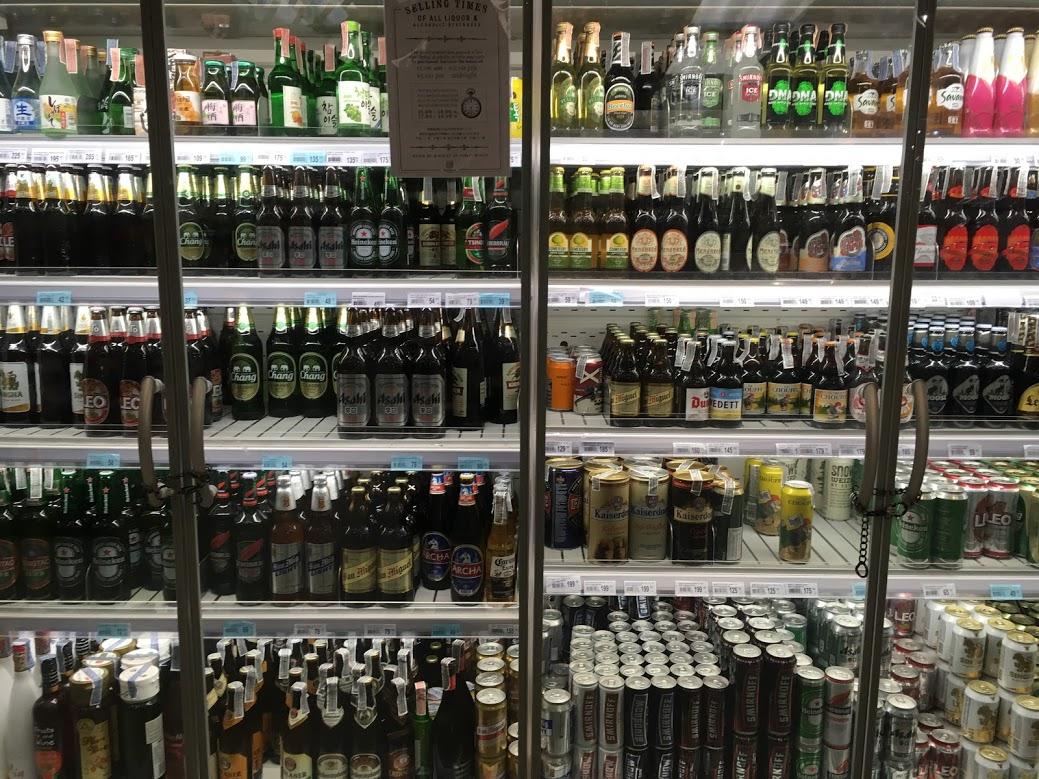 チェンマイのお土産・ビールなどのタイのお酒・アルコール飲料(ショッピングセンター MAYAやスーパーマーケットなど)