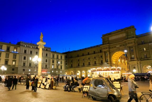 フィレンツェ・夜・夜中の時間の観光・出歩き時の注意と治安