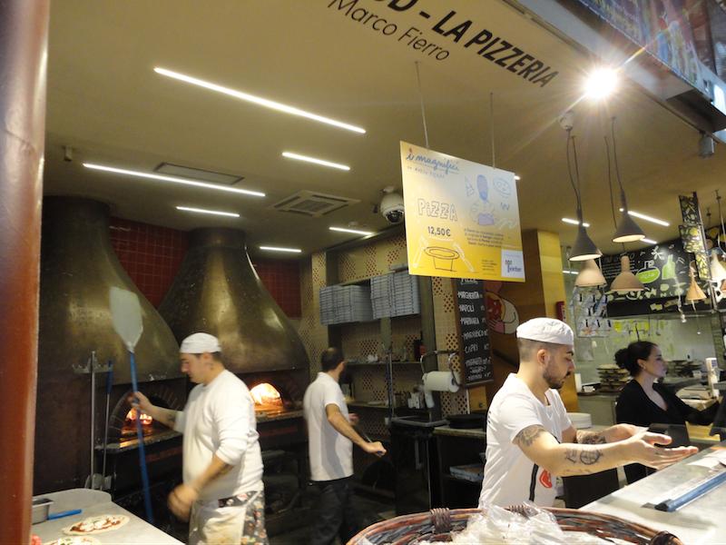 フィレンツェ中央市場・ピザ(La Pizzeria by Marco Fierro)