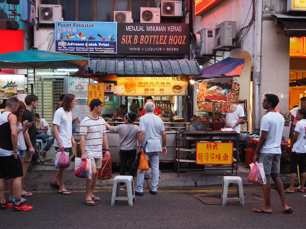 マレーシア・クアラルンプールのグルメ:土鍋 クレイポットチキンライス お店Hong Kee Claypot Chicken Rice外観