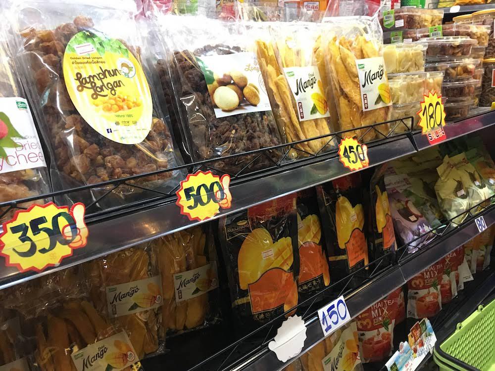チェンマイ空港のお土産:お菓子・スナック類・ドライフルーツ