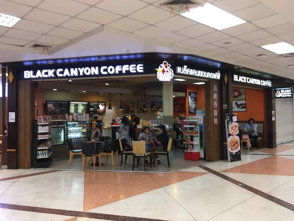 チェンマイ空港でお土産を買える店・場所: カフェ(Black Canyon Coffee)