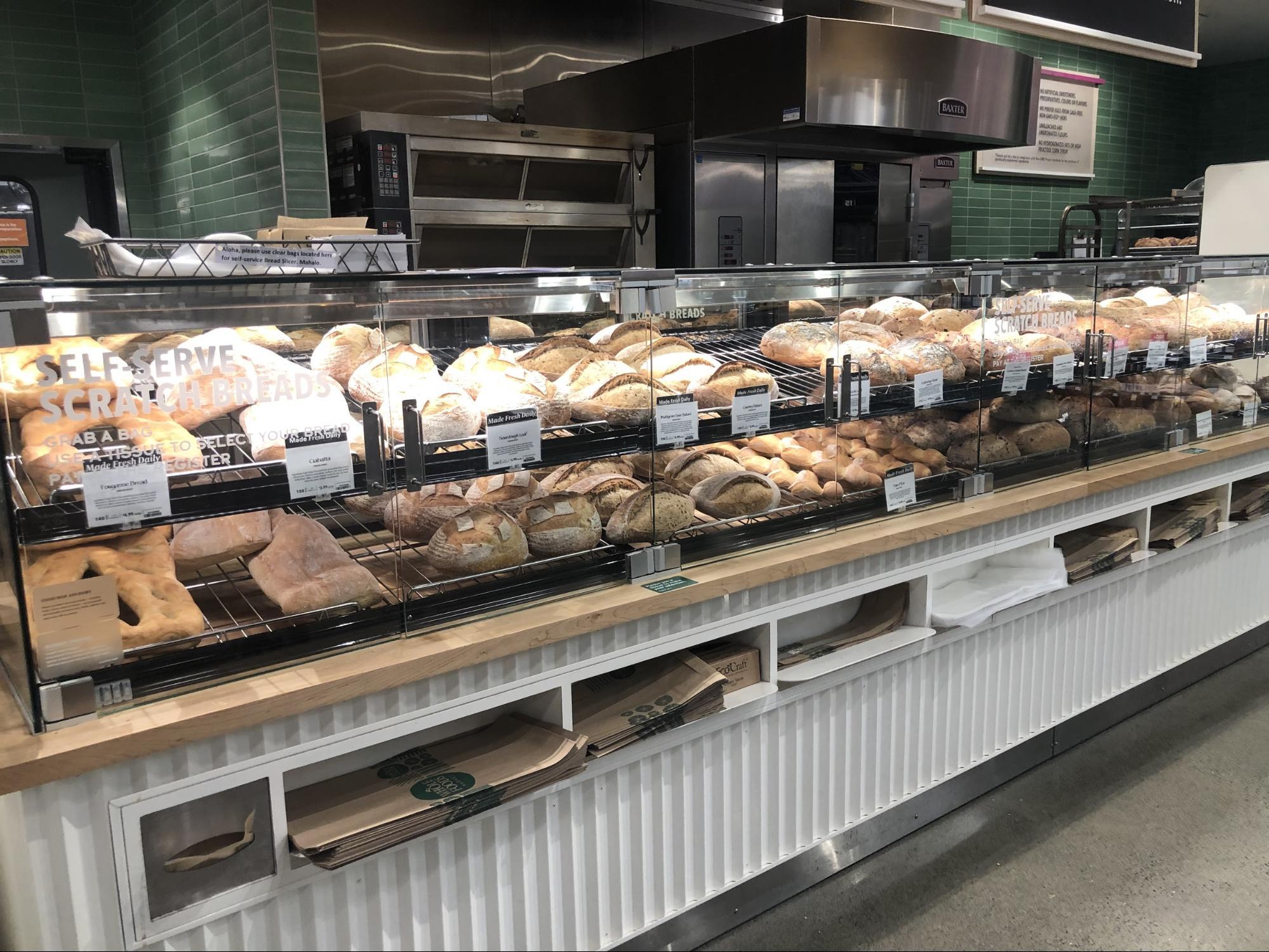 ハワイ・ホールフーズの飲食店/フードコートグルメ・パン類