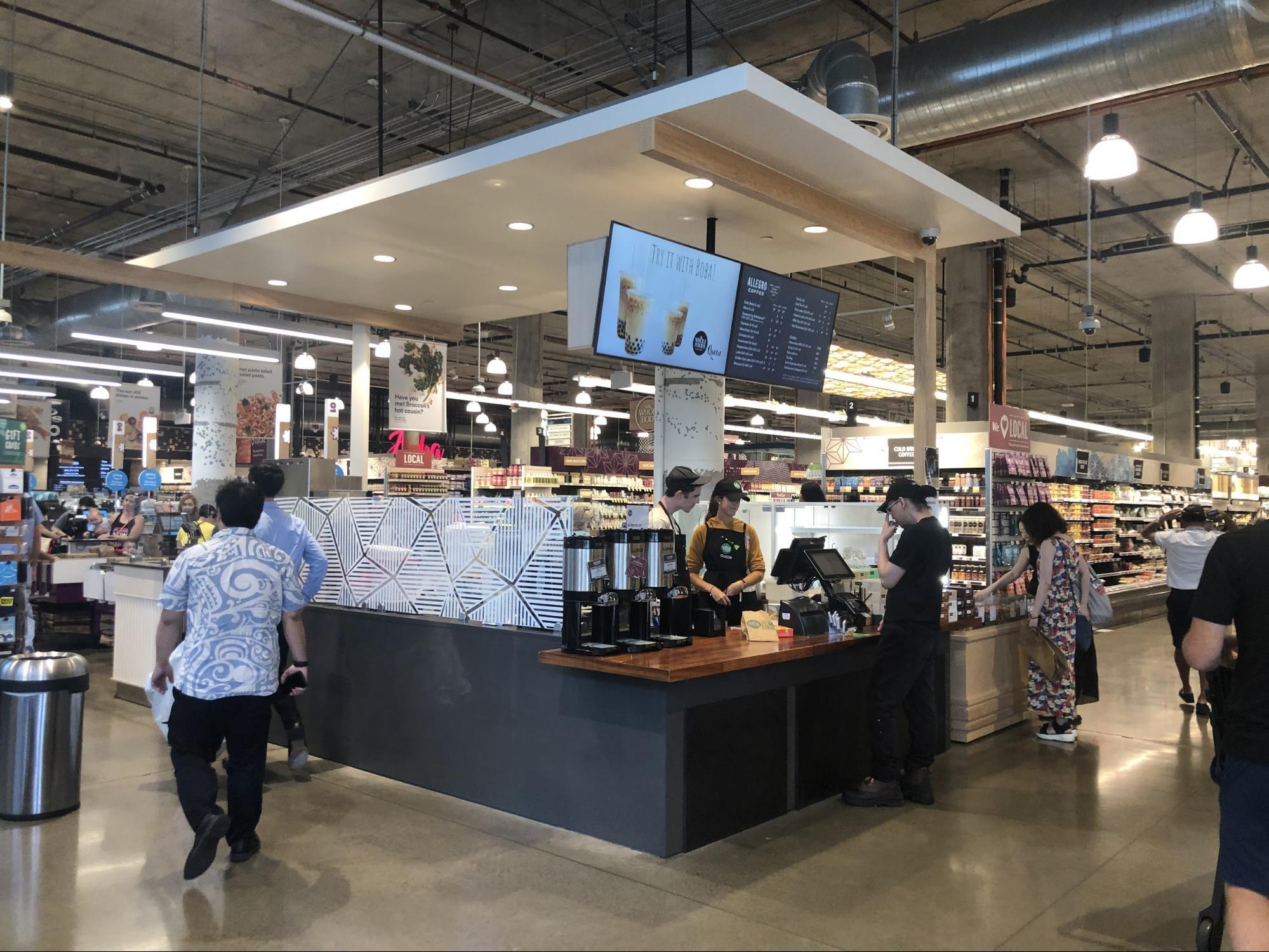 ハワイ・ホールフーズの飲食店/フードコートグルメ・コーヒースタンド