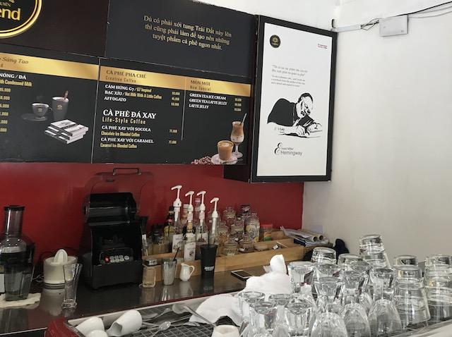 ホーチミン・ジャコウネココーヒーが飲めるカフェ(Trung Nguyen Coffee)の店内の様子