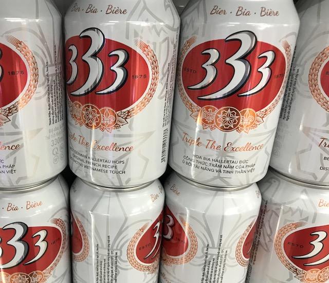 ベトナム・ホーチミンのおすすめのお土産:ベトナムビール 333