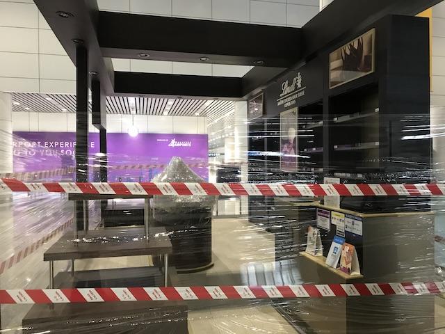 コロナウイルス状況下のマレーシア・クアラルンプール国際空港(KLIA)の様子