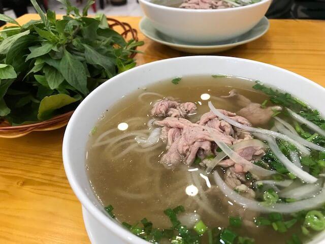 ホーチミン・Pho Hien noodie soup:牛肉のフォー